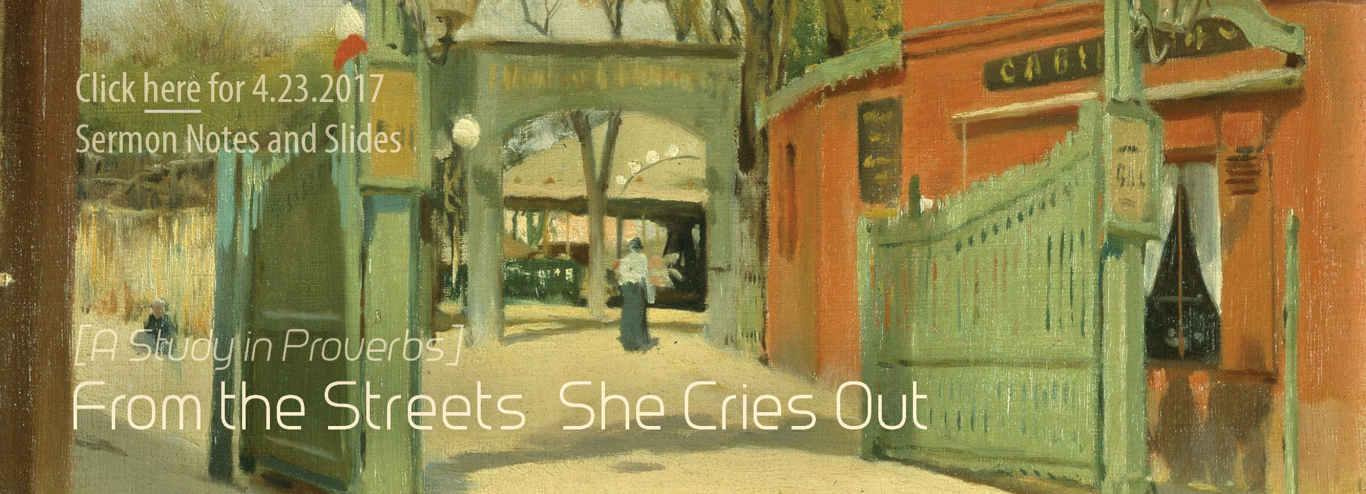 From the Streets She Cries Out