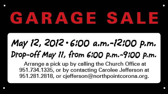 SM Garage Sale | Northpoint Evangelical Free Church