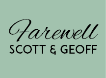 Farewell Scott & Geoff – THIS Sunday