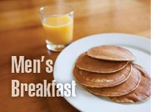 Men's Breakfast – NEXT Saturday!