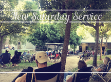Saturday Night Service at 6:00 p.m.